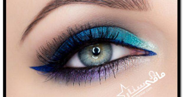 32eec75321a79 مكياج عيون باللون الازرق بالخطوات مامي ستار