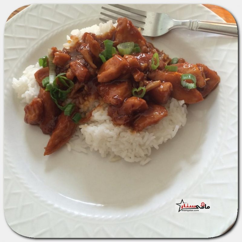 طريقة عمل الدجاج الآسيوي والأرز