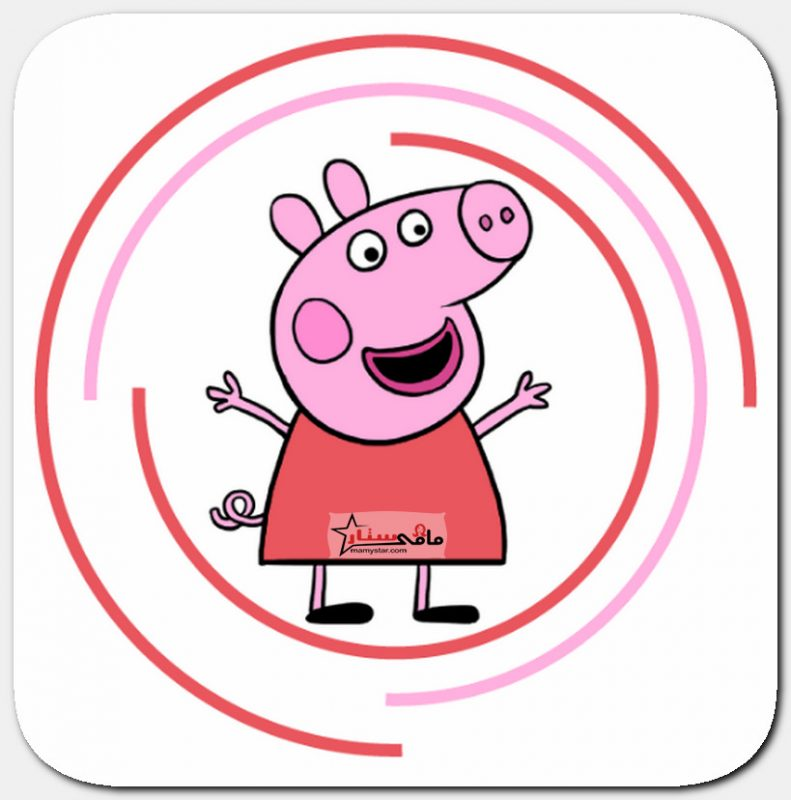 رسم بيبا الخنزير خطوة بخطوة