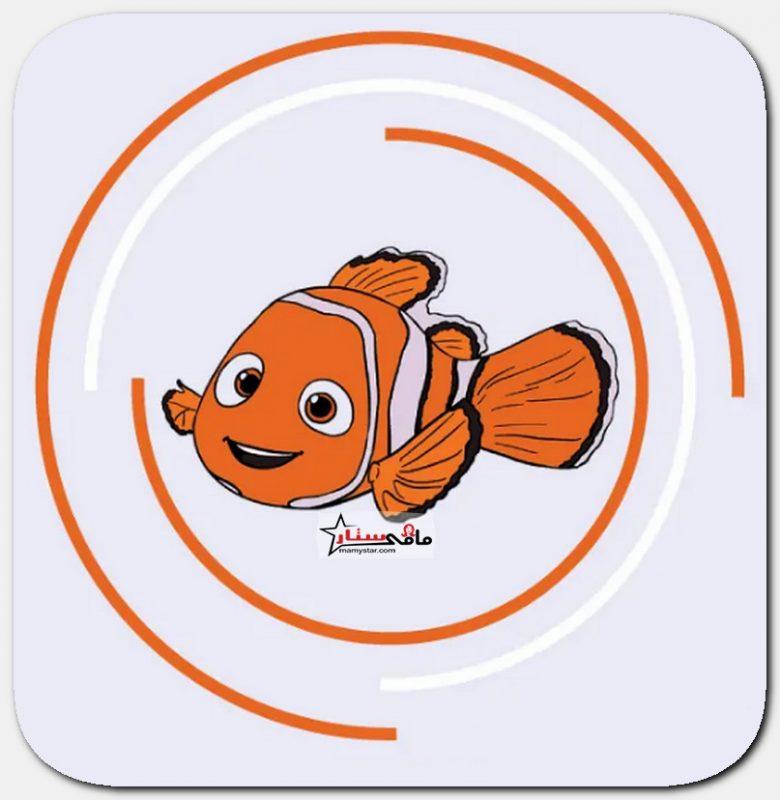 رسم سمكة نيمو من كرتون البحث عن نيمو بالخطوات