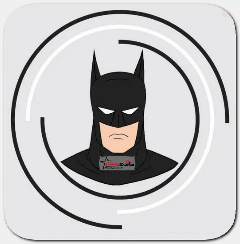 رسم وجه باتمان الرجل الوطواط