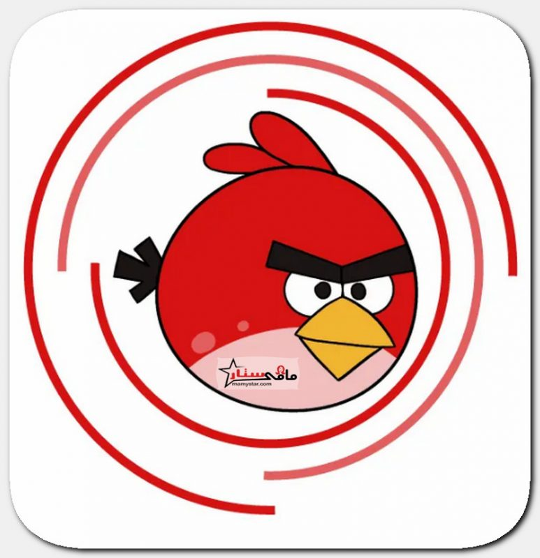 how to draw red bird angry birds