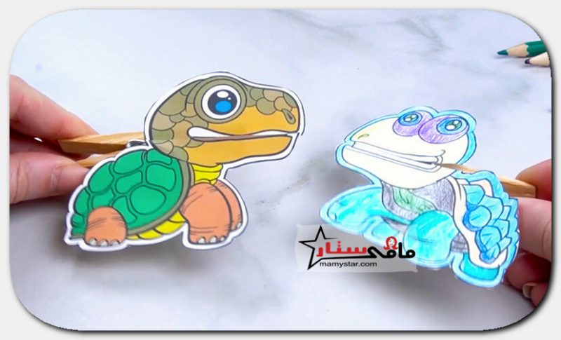 Turtle Clothespin Puppets