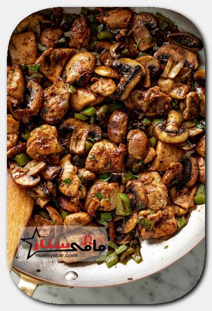 garlic mushroom chicken bites