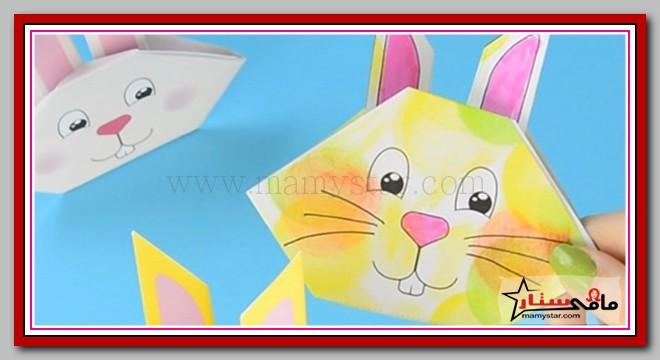 كيفية عمل ارنب اوريغامي من الورق الملون