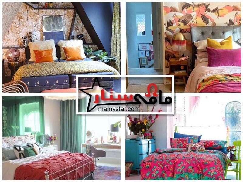 تصاميم غرفة نوم ملونة بالصور 2022