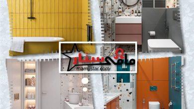 أفكار ديكور حمامات ملونة 2022