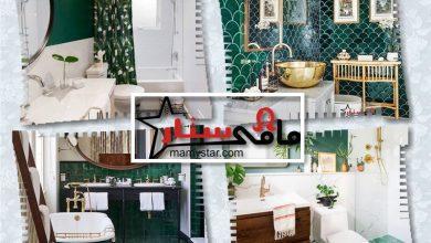 حمامات باللون الأخضر الغامق 2022