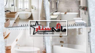 ديكور حمامات باللونين الرمادي والأبيض 2022